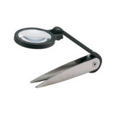 General Tools 425 Magnifying Glass with Tweezers Attached