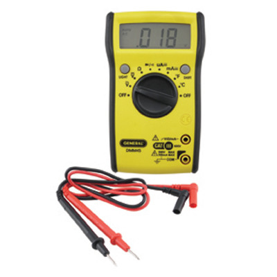 General Tools DMM45 Digital Meter W/Bright Display