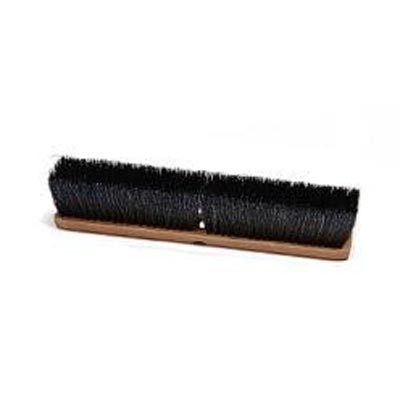 "Laitner Brush 214 24"" Black Synthetic On Wood Push Broom Head"