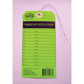 SAS Safety 5137 Eyewash Service Inspection Tag for 5135