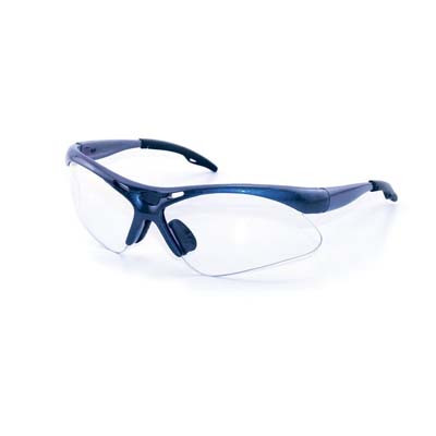 SAS Safety 540-0310 Safety Glasses Blue Frame/Clear Lens