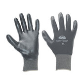 SAS Safety 640-1908 Black 15 Gauge Nylon Knit Shell Gloves