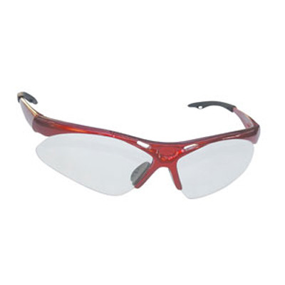 SAS Safety 540-0000 Diamondback Safety Glasses - Red Frame