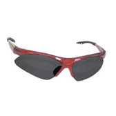 SAS Safety 540-0001 Diamondback Safety Glasses - Red Frame