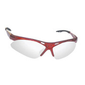 SAS Safety 540-0003 Diamondback Safety Glasses - Red Frame