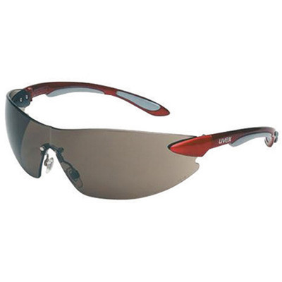 Uvex S4411 Ignite Red/Silver Frame Gray Lens Safety Glasses