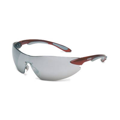 Uvex S4413 Ignite Red/Silver Silver Mirror Safety Glasses