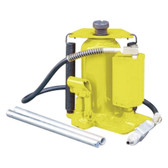 Esco Equipment 10446 20 Ton Air Hydraulic Bottle Jack--Yellowjackit