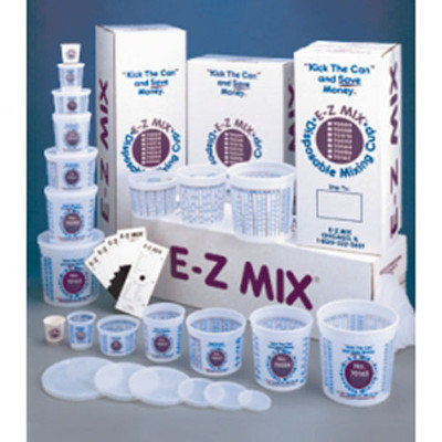 E-Z Mix 70004 1/4 Pint Disposable Mixing Cups 400/Box