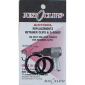 """Just Clips 1000-5 5 Pack 1"""" Anvil Retainer Clip Refill Kit"""