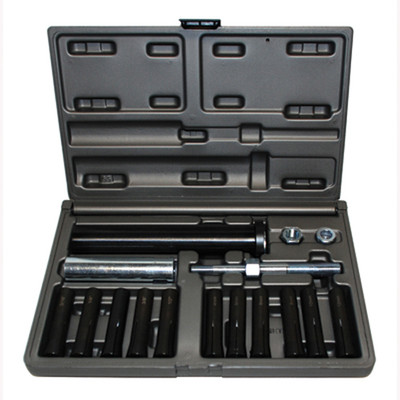 Cal Van Tools 95400 In-Line Dowel Pin Puller Set, With SAE And Metric Collets, Use With Power Or Hand Tools, In Case
