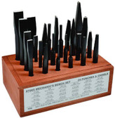 Mayhew Tools 61080 Punch and Chisel Set, 24 Pieces
