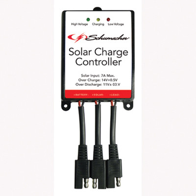 Schumacher Electric SPC-7A Solar Charge Controller, Protects Battery from Overcharge and Discharge, for 12 Volt Solar Panels