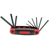 Performance Tool 1402 9 Pc Folding Hex Key Set - SAE