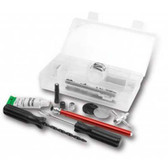 Performance Tool 60204 Tire Repair Kit 35 Piece, with Plugs, Patches, Cement, Reamer, Caps, Valves, Stems, Gauge, in Pouch