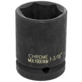 "Performance Tool M740-38 3/4"" Dr 1-3/16"" Impact Socket"