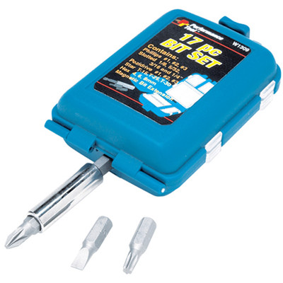 Performance Tool W1309 17Pc Bit Set With Case