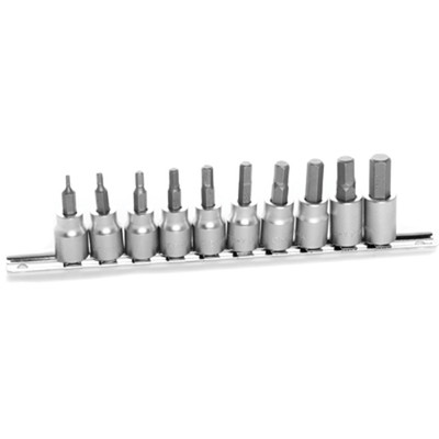 Performance Tool W1388 10 Pc MM Hex Bit Socket Set