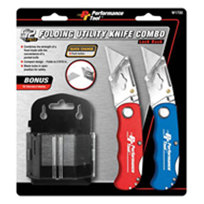 Performance Tool W1720 52Pc Folding Lock Back Utility Knife