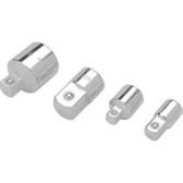 "Performance Tool W30934 Chrome Adapter Set, 4 Piece, 1/4"" F to 3/8"" M, 3/8"" F to 1/4"" M, 3/8"" F to 1/2"" M, 1/2"" F to 3/8"" M"