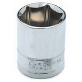 "Performance Tool W32034 Chrome Socket, 1/2"" Drive, 1-1/16"", 6 Point, Shallow"