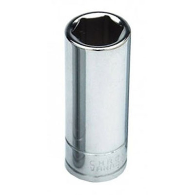 "Performance Tool W32163 Chrome Spark Plug Socket, 1/2"" Drive, 13/16"", 6 Point, Deep"