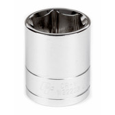 "Performance Tool W32223 Chrome Socket, 1/2"" Drive, 23mm, 6 Point, Shallow"