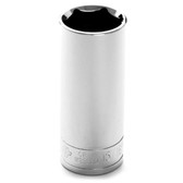 "Performance Tool W32330 Chrome Socket, 1/2"" Drive, 15/16"", 6 Point, Deep"