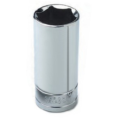 "Performance Tool W32334 Chrome Socket, 1/2"" Drive, 1-1/16"", 6 Point, Deep"