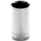 "Performance Tool W32340 Chrome Socket, 1/2"" Drive, 1-1/4"", 6 Point, Deep"