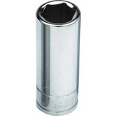 "Performance Tool W32421 Chrome Socket, 1/2"" Drive, 21mm, 6 Point, Deep"