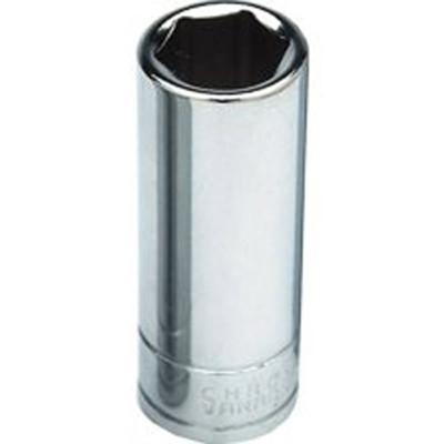 "Performance Tool W32421 Chrome Socket, 1/2"" Drive, 21mm, 6 Point, Deep"