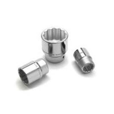"Performance Tool W34552 Chrome Socket, 3/4 Drive, 1-5/8"", 12 Point, Shallow"