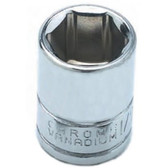 "Performance Tool W36210 Chrome Socket, 1/4"" Drive, 10mm, 6 Point, Shallow"