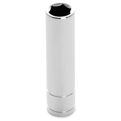 "Performance Tool W36310 Chrome Socket, 1/4"" Drive, 5/16"", 6 Point, Deep"