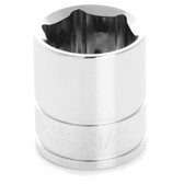 "Performance Tool W38024 Chrome Socket, 3/8"" Drive, 3/4"", 6 Point, Shallow"