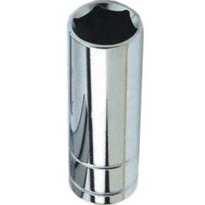 "Performance Tool W38316 Chrome Socket, 3/8"" Drive, 1/2"", 6 Point, Deep"