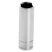 "Performance Tool W38318 Chrome Socket, 3/8"" Drive, 9/16"", 6 Point, Deep"