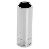 "Performance Tool W38320 Chrome Socket, 3/8"" Drive, 5/8"", 6 Point, Deep"