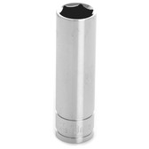 "Performance Tool W38413 Chrome Socket, 3/8"" Drive, 13mm, 6 Point, Deep"
