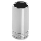 "Performance Tool W38422 Chrome Socket, 3/8"" Drive, 22mm, 6 Point, Deep"