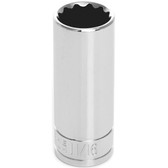 "Performance Tool W38622 3/8"" Dr 12Pt Deep Socket 11/16"