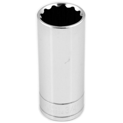 Performance Tool W38624 3/8'' Dr 12Pt Deep Socket 3/4""