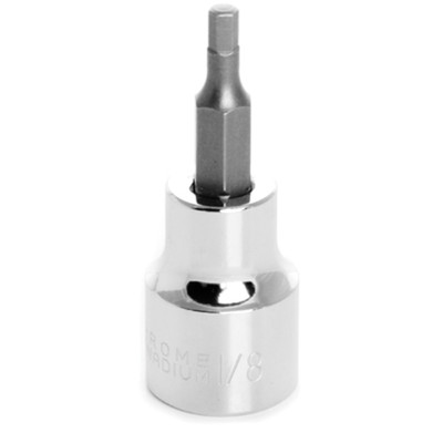"Performance Tool W38874 Chrome Hex Bit Socket, 3/8"" Drive, 1/8"" Hex Bit"