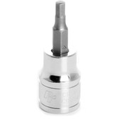 "Performance Tool W38894 Chrome Hex Bit Socket, 3/8"" Drive, 4mm Hex Bit"