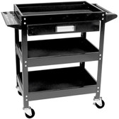 Performance Tool W54006 3 Shelf Utility Cart W/Drawer