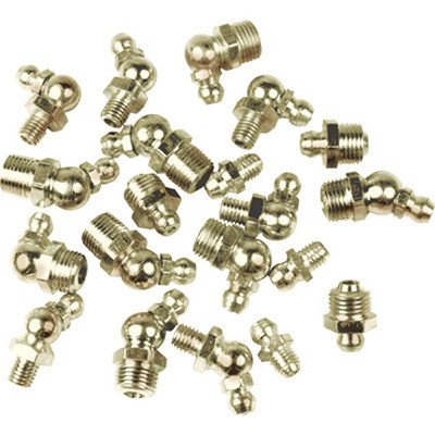 Performance Tool W54245 10Pk 1/4-28 45 Degree Grease Fittings