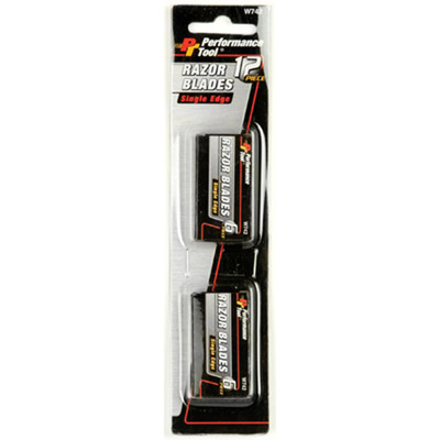 Performance Tool W742 12 Pc Single Edge Razor Blade