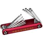 Performance Tool W9132 9Pc Aluminum Folding Hex Key Set