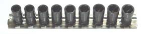 "H.B. Products TSCS2509B 9 Piece 1/4"" Drive Sae Metric Turbo Socket Set"